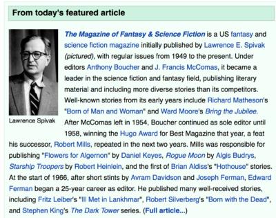 F&SF @ Wikipedia