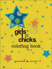 Girls Are Not Chicks Coloring Book cover - click to view full size