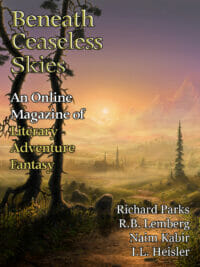 Beneath Ceaseless Skies Issue #183, Seventh Anniversary Double-Issue cover - click to view full size