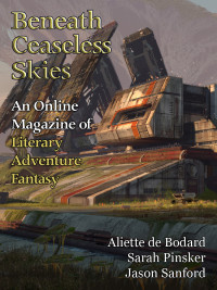 Beneath Ceaseless Skies Issue #195, Special Double-Issue for BCS Science-Fantasy Month 3 cover - click to view full size