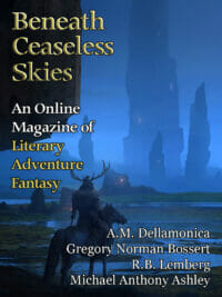 Beneath Ceaseless Skies Issue #209, Eighth Anniversary Double-Issue cover - click to view full size