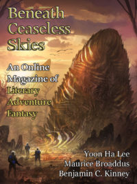 Beneath Ceaseless Skies Issue #244, Double-Issue for BCS Science-Fantasy Month 4 cover - click to view full size