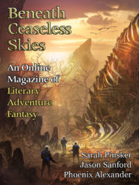 Beneath Ceaseless Skies Issue #246, Double-Issue for BCS Science-Fantasy Month 4 cover - click to view full size
