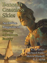 Beneath Ceaseless Skies Issue #313, Twelfth Anniversary Double-Issue cover - click to view full size