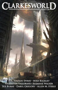 Clarkesworld Magazine – Issue 134 cover - click to view full size