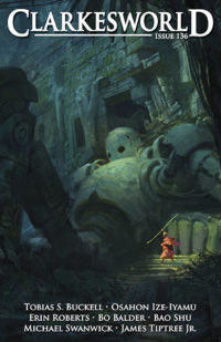 Clarkesworld Magazine – Issue 136 cover - click to view full size