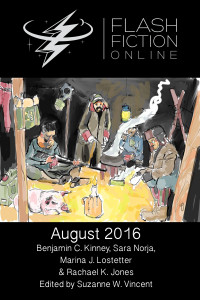 Flash Fiction Online Issue #35 August 2016 cover - click to view full size