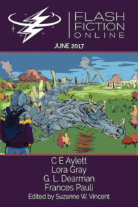 Flash Fiction Online Issue #45 June 2017 cover - click to view full size