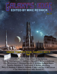 Galaxy's Edge Magazine: Issue 25, March 2017 cover - click to view full size