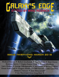 Galaxy's Edge Magazine: Issue 31, March 2018 cover - click to view full size