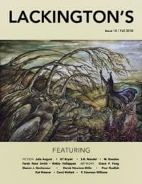 Lackington's Issue 18 (Fall 2018) cover - click to view full size