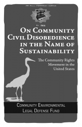 On Community Civil Disobedience in the Name of Sustainability: The Community Rights Movement in the United States cover - click to view full size