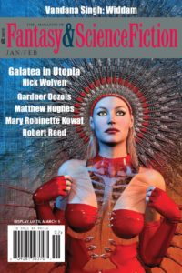 The Magazine of Fantasy and Science Fiction – January/February 2018 cover - click to view full size