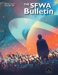 The SFWA Bulletin Issue 209 cover - click to view full size