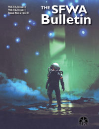 The SFWA Bulletin Issue 210/211 cover - click to view full size