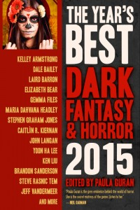 The Year's Best Dark Fantasy and Horror 2015 cover - click to view full size