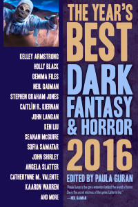 The Year's Best Dark Fantasy and Horror, 2016 cover - click to view full size