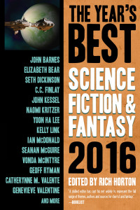 The Year's Best Science Fiction and Fantasy, 2016 cover - click to view full size