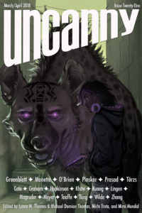 Uncanny Magazine Issue 21 cover - click to view full size