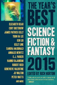 Year's Best Science Fiction and Fantasy, 2015 edition cover - click to view full size