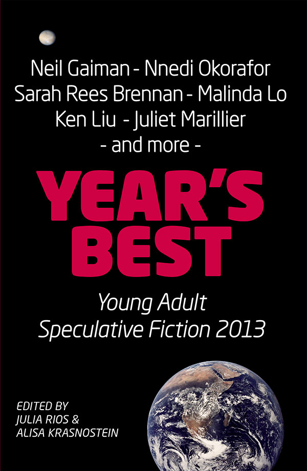 Year's Best YA Speculative Fiction 2013 cover - click to view full size